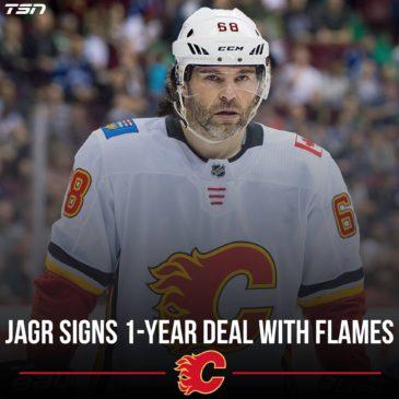 Jaromír Jágr v Calgary Flames